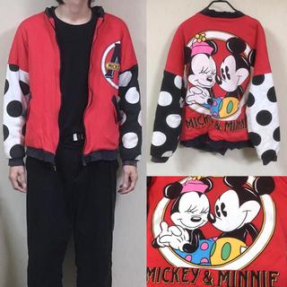ディズニー(Disney)の90's Disny  ディズニー USA製 ナイロンジャケット 総柄 (ブルゾン)