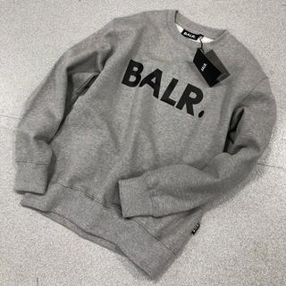 balr. BALR ボーラー クルーネックトレーナースウェット灰色XL寸(スウェット)