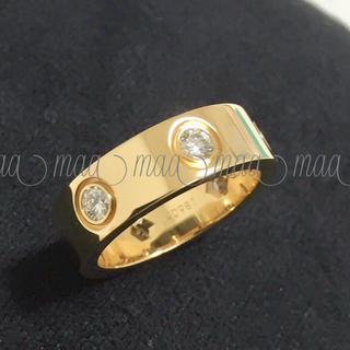 カルティエ(Cartier)の♡カルティエ ラブリング フルダイヤ イエローゴールド YG #8 美品♡(リング(指輪))
