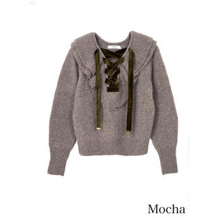 Lace Up Wool-blend Pullover(ニット/セーター)