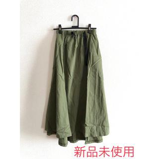 スカート ロング ビッグシルエット スカート カーキ(ロングスカート)