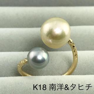 ◆新作・一点もの◆ K18YG 南洋&タヒチ ダブルパールリング(リング(指輪))