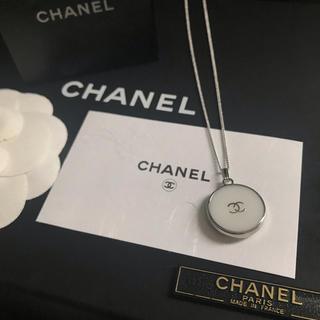 CHANEL - CHANEL ノベルティ ネックレス(シルバー×ホワイト)