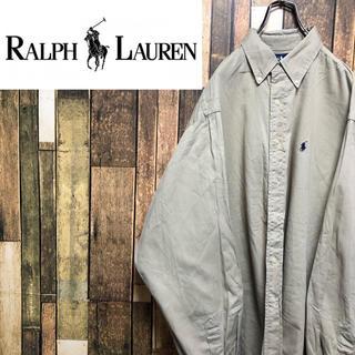 Ralph Lauren - 【激レア】ラルフローレン☆USA製ワンポイント刺繍ロゴビッグボタンダウンシャツ
