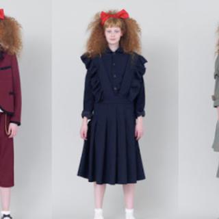 コムデギャルソン(COMME des GARCONS)のコムデギャルソン ガール/フリフリの吊りスカート/garcons girl(ロングスカート)