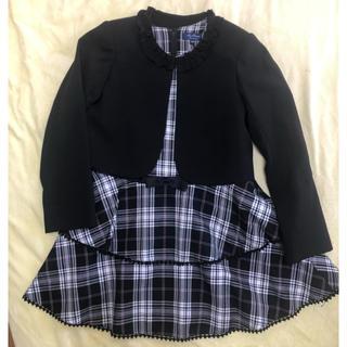 マザー(mother)の値下!美品 motherways ジャンパースカート&ジャケット130cm(ワンピース)