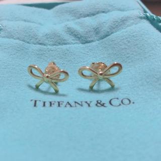 Tiffany & Co. - ティファニー★リボン🎀ゴールドピアス