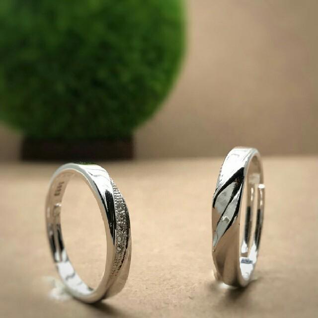 ❤即日発送 2個セット❤ シルバー925⭐高品質⭐ペアリング フリーサイズ レディースのアクセサリー(リング(指輪))の商品写真