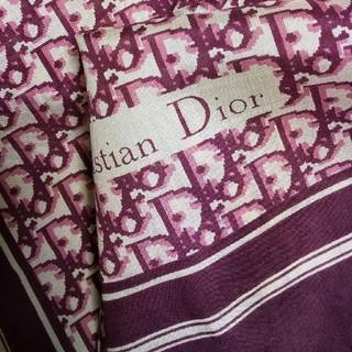 Christian Dior - 新品 Christian Dior① スカーフ ワイン系 トロッター柄 和装