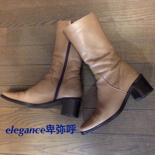 elegance卑弥呼 - 【elegance卑弥呼】ベージュ ミドル丈ブーツ