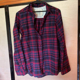 シマムラ(しまむら)の赤 チェックシャツ(シャツ/ブラウス(長袖/七分))