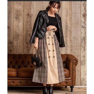 fifth - グレンチェックトレンチロングスカート M 美品