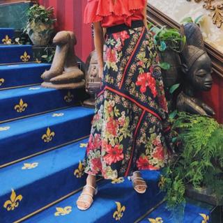 GRACE CONTINENTAL - グレースコンチネンタル  ボタニカルスカーフスカート