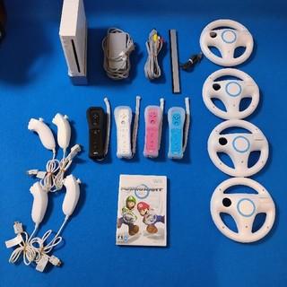 Wii - カラフルリモコン ✨カバー紐付き✨マリオカート一式❗️ ヌンチャク4個つき✨