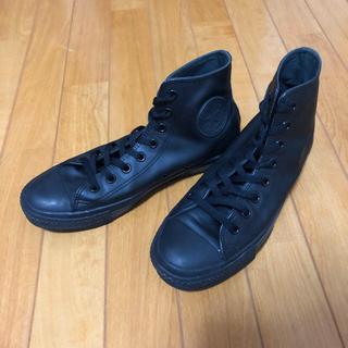 コンバース(CONVERSE)のS様 専用 converse ハイカットレザーブーツ オールブラック27cm(ブーツ)