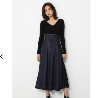 rienda - rienda サイドプリーツスカート
