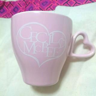 セシルマクビー(CECIL McBEE)のセシル♥ハートマグカップ♥(グラス/カップ)