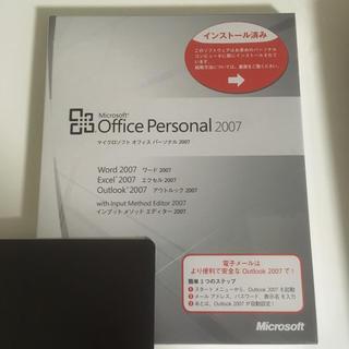 マイクロソフト(Microsoft)のmicrosoft office personal 2007(PC周辺機器)