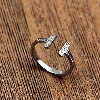 T字リング ステンレスリング ステンレス指輪 ピンキーリング(リング(指輪))
