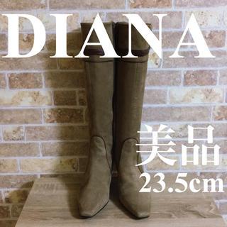 DIANA - 美品 DIANA ダイアナ ブーツ ブラウン 23.5cm スエード
