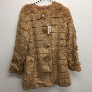 リズリサ(LIZ LISA)のビジョーファーコート モカ LIZ LISA 新品  定価¥15700(毛皮/ファーコート)