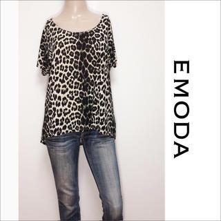 エモダ(EMODA)のEMODA レオパード Tシャツ カットソー♡ムルーア SLY リップサービス(Tシャツ(半袖/袖なし))