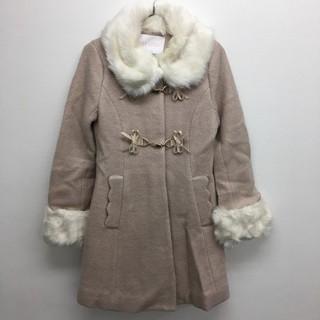 リズリサ(LIZ LISA)のファー衿リボンコート ベージュ LIZ LISA 新品  定価¥17380(毛皮/ファーコート)