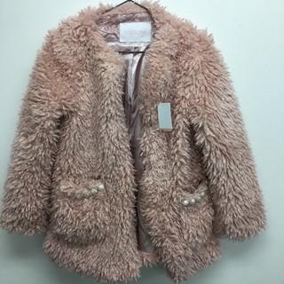 リズリサ(LIZ LISA)のファーコート ピンク LIZ LISA 新品  定価¥14080(毛皮/ファーコート)