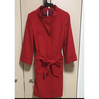 アールユー(RU)のコート赤 ru(ロングコート)