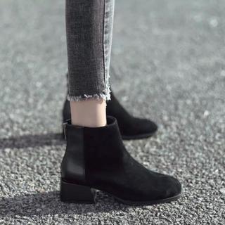 ブラック 黒 ショートブーツ 24.0cm(ブーツ)