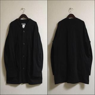 Yohji Yamamoto - ヨウジヤマモトプールオム ビッグシルエットコットンロングブルゾン 黒 ブラック