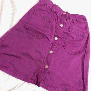 ウィゴー(WEGO)のスカート パープル(ひざ丈スカート)
