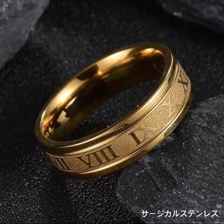 ゴールドローマ字リング ステンレスリング ステンレス指輪