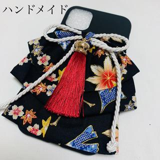 和風着物ハンドメイドiPhone 11ケース 手作り(iPhoneケース)