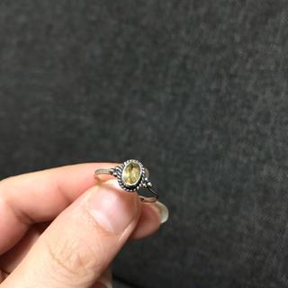 ビジュマム  シルバー925 プチリング シトリン(リング(指輪))