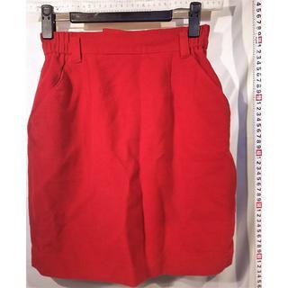 ミニスカートゴム付きベルト用 2ポケット 赤シンプル(ミニスカート)