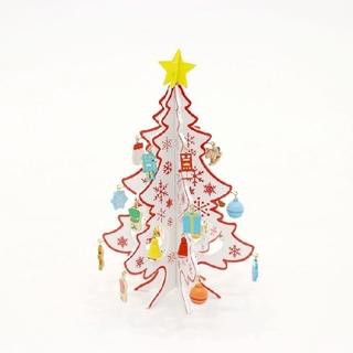 スリーコインズ(3COINS)のスリーコインズ ミニクリスマスツリー ホワイト(置物)