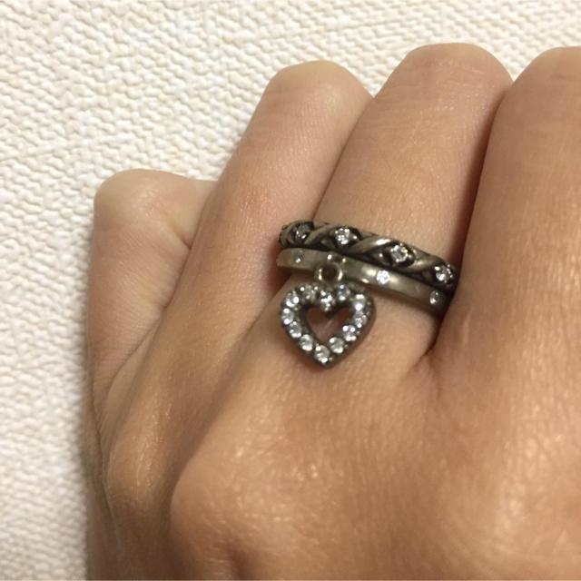 Samantha Tiara(サマンサティアラ)の2連 リング レディースのアクセサリー(リング(指輪))の商品写真