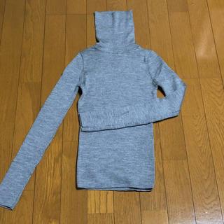 ジャイロ(JAYRO)の新品 JAYRO NEXT リブ タートルネック セーター グレー M(ニット/セーター)