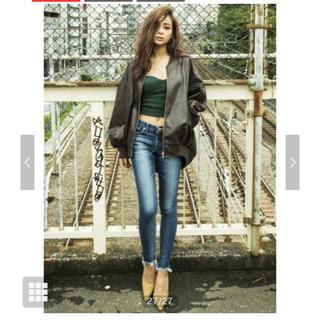 GYDA - GYDA RAGGED EDGE SKINNY DENIMパンツ