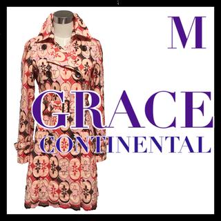 グレースコンチネンタル(GRACE CONTINENTAL)のグレースコンチネンタル GRACE CONTINENTAL コート 総刺繍 36(トレンチコート)