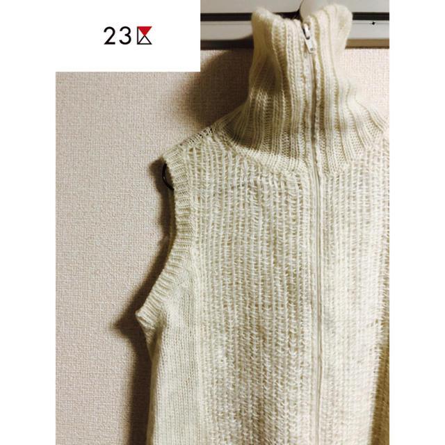 23区(ニジュウサンク)の23区 ノースリーブセーター レディースのトップス(ニット/セーター)の商品写真