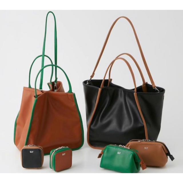SLY(スライ)の【ネイル付き】SLYスライ 心斎橋限定 ノベルティー バッグBAG&ポーチセット レディースのバッグ(トートバッグ)の商品写真