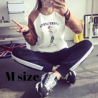 ジョガーパンツ ジャージ パンツ スポーツ ウェア 部屋着 ブラック M(カジュアルパンツ)