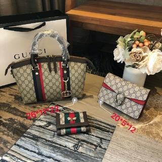 Gucci - Gucci ハンドバッグ ショルダーバッグ 財布 3点セット