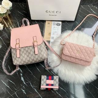 Gucci - Gucci 大人気 バッグパック ショルダーバッグ 財布 3点セット