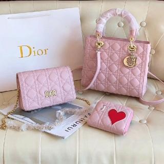 Dior - DIOR 可愛い ハンドバッグ ショルダーバッグ 財布 3点セット