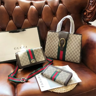 Gucci - Gucci グッチ ハンドバッグ ショルダーバッグ 長財布 3点セット