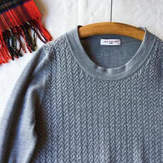 オールドイングランド(OLD ENGLAND)の【美品】OLD ENGLAND 極上ウール 変わり編みのニットプルオーバー M(ニット/セーター)