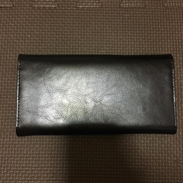 nano・universe(ナノユニバース)のナノユニバース 本革長財布黒 メンズのファッション小物(長財布)の商品写真